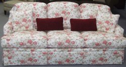 Sofa with flowers